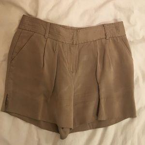 Diane von Furstenberg cupro pleated shorts